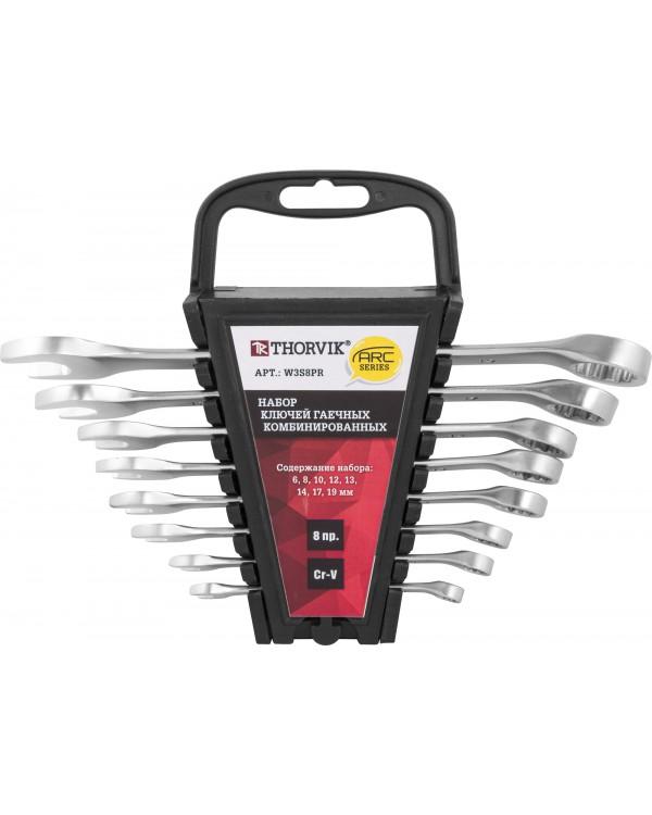 Набор ключей комбинированных на пластиковом держателе 6-19 мм, 8 предметов