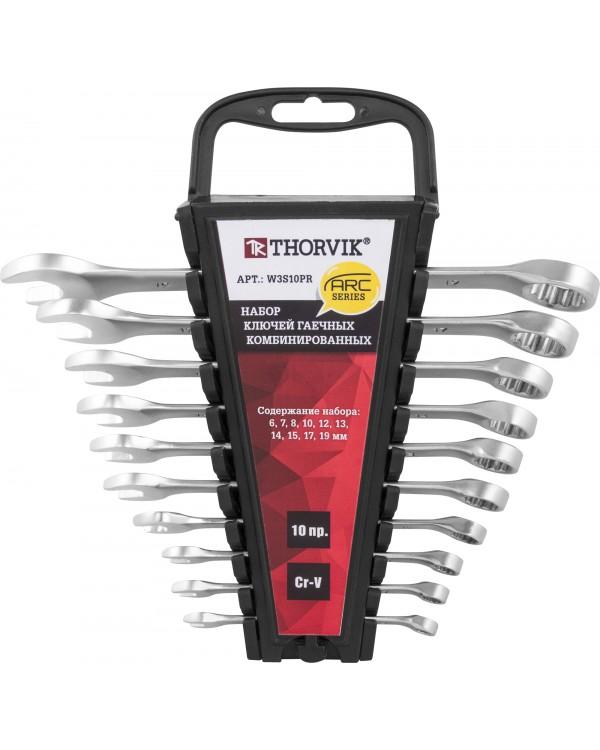 Набор ключей комбинированных на пластиковом держателе 6-19 мм, 10 предметов