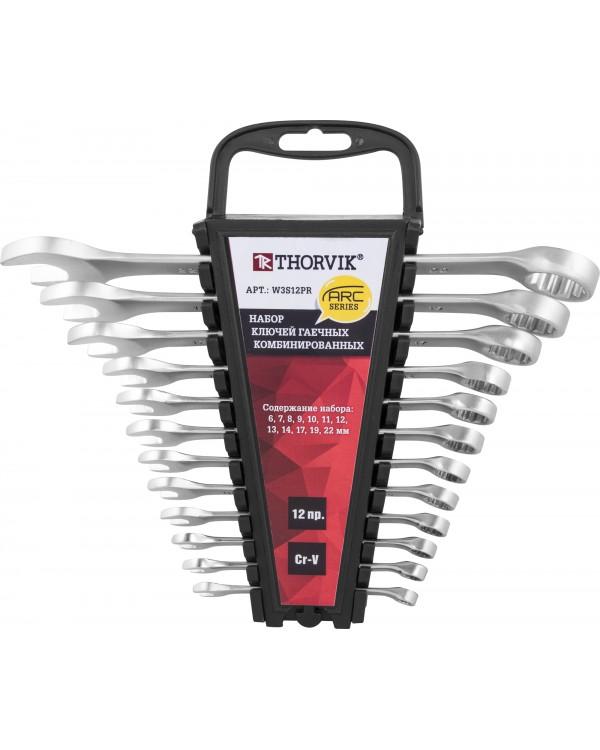 Набор ключей комбинированных  на пластиковом держателе 6-22 мм, 12 предметов