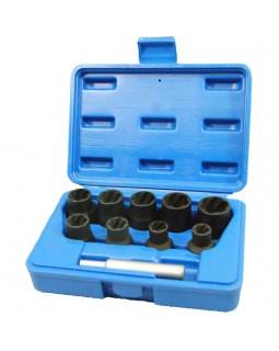 Набор торцевых головок для поврежденных гаек и болтов, 10-19 мм, кейс, 10 предметов МАСТАК 109-30010