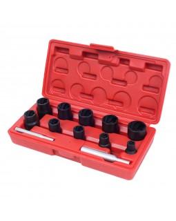 Набор торцевых головок для поврежденных гаек и болтов, 8-21 мм, кейс, кейс, 12 предметов МАСТАК 109-