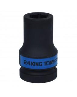 "Головка торцевая ударная глубокая шестигранная 1"", 24 мм KING TONY 843524M"