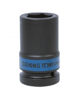 "Головка торцевая ударная глубокая шестигранная 1"", 32 мм KING TONY 843532M"