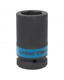 "Головка торцевая ударная глубокая шестигранная 1"", 34 мм KING TONY 843534M"