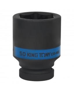 "Головка торцевая ударная глубокая шестигранная 1"", 50 мм KING TONY 843550M"