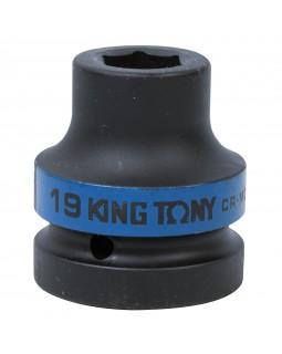 "Головка торцевая ударная шестигранная 1"", 19 мм KING TONY 853519M"