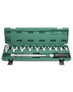 """Ключ динамометрический 1/2""""DR  40-200 Нм. со сменными рожковыми насадками 13-30 мм  и приводом в наб"""