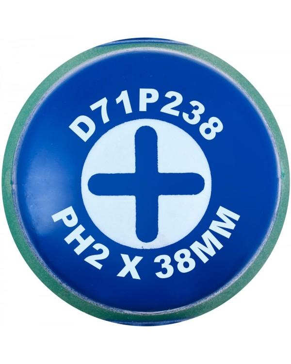 Отвертка стержневая крестовая ANTI-SLIP GRIP, PH2х38 мм