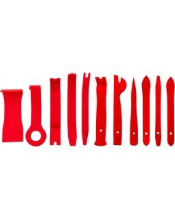 Набор приспособлений для демонтажа декоративных панелей салона автомобиля, 11 предметов