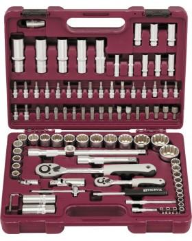 """Набор инструмента 1/4"""", 1/2"""" с головками торцевыми MultiProf, 94 предмета"""