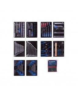Набор инструментов для тележки, 10 ложементов, 173 предмета KING TONY 932-000MRD-MT