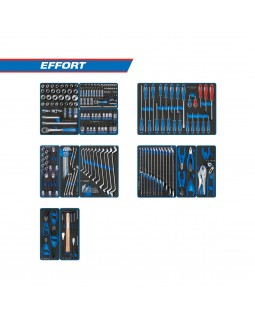 "Набор инструментов ""EFFORT"" для тележки, 12 ложементов, 235 предметов KING TONY 934-235MRV"