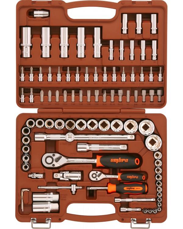 """Набор инструмента 1/4"""", 1/2"""" с головками торцевыми 12-гранными 1/2""""DR, 94 предмета"""