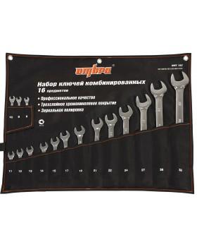 Набор ключей гаечных комбинированных в сумке, 8-32 мм, 16 предметов