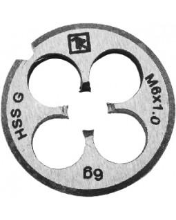 Плашка D-COMBO круглая ручная М10х1.25, HSS, Ф30х11 мм