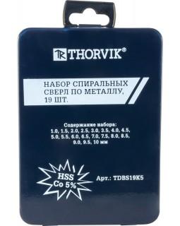 Набор спиральных сверл по металлу HSS Co в металлическом кейсе, d1.0-10.0 мм, 19 предметов