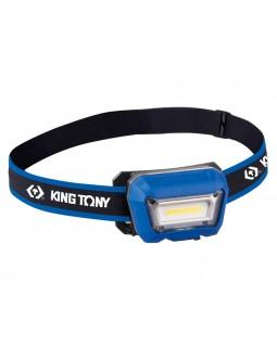 Фонарь светодиодный, налобный, 1 Led COB, 3,7 В KING TONY 9TA52A