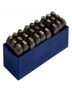 Набор ударных клейм 5 мм, буквы-латиница, 27 предметов, хвостовик HRC 40 KING TONY 11527SQ05