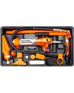 Набор гидравлического инструмента для кузовного ремонта 4 т. 18 предметов