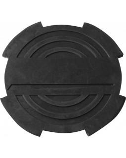 Опора резиновая с отбортовкой для подкатных домкратов, Ø-116 мм, Н-18 мм
