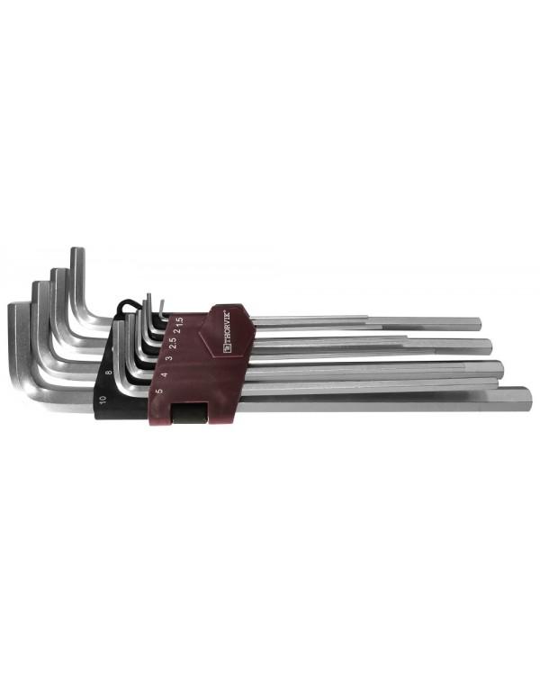 HKL10S Набор ключей торцевых шестигранных удлиненных, H1.5-H10, 10 предметов