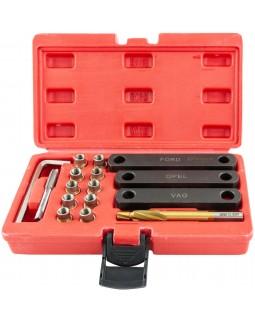 BTRK Набор инструментов для восстановления резьбы скобы тормозного суппорта, 16 предметов
