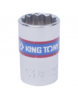 "Головка торцевая стандартная двенадцатигранная 3/8"", 13 мм KING TONY 333013M"
