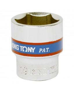 "Головка торцевая стандартная шестигранная 3/8"", 19 мм KING TONY 333519M"