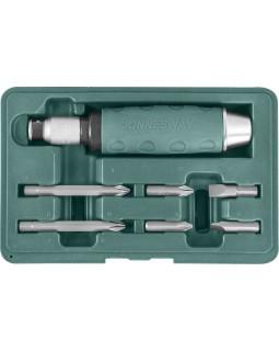 Ударная отвертка с битами SL 8,10 мм, PH# 2,3, 36 мм и PH# 2,3 80 мм, 10 предметов