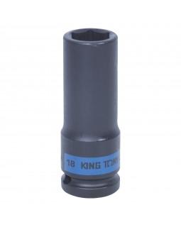 "Головка торцевая ударная глубокая шестигранная 1/2"", 18 мм KING TONY 443518M"