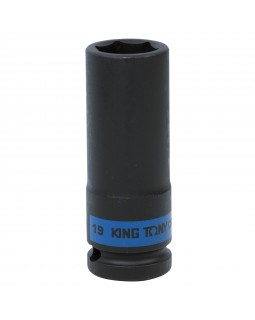 "Головка торцевая ударная глубокая шестигранная 1/2"", 19 мм KING TONY 443519M"