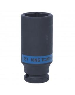 "Головка торцевая ударная глубокая шестигранная 1/2"", 27 мм KING TONY 443527M"