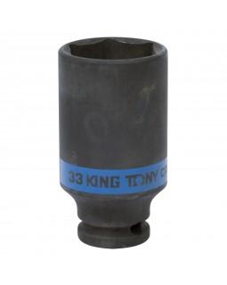 "Головка торцевая ударная глубокая шестигранная 1/2"", 33 мм KING TONY 443533M"