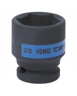 "Головка торцевая ударная шестигранная 1/2"", 26 мм KING TONY 453526M"