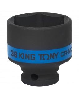 "Головка торцевая ударная шестигранная 1/2"", 38 мм KING TONY 453538M"