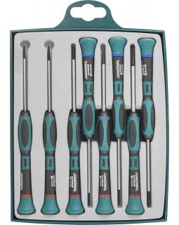 Набор отверток для точной механики шлиц прямой, крест (PH) 8 предметов