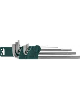 Комплект угловых шестигранников Extra Long 1,5-10 мм, S2 материал, 10 предметов