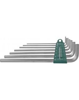 Комплект угловых шестигранников Extra Long 2,5-10 мм, S2 материал, 7 предметов