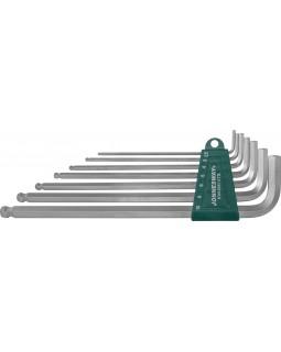 Комплект угловых шестигранников Extra Long с шаром 2,5-10 мм, S2 материал, 7 предметов