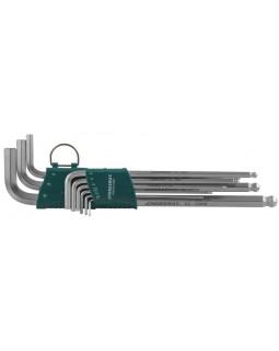 Набор торцевых шестигранных ключей EXTRA LONG с шаром 1,5-10 мм. 9 предметов
