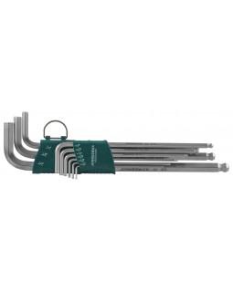 """Набор торцевых шестигранных ключей дюймовых размеров EXTRA LONG с шаром 1/16""""-3/8"""" 9 предметов"""