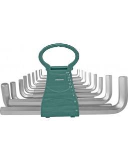 Набор ключей торцевых шестигранных удлиненных 1,5-19 мм. 18 предметов