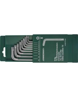 Комплект угловых ключей Torx с центрированным штифтом Т10-Т50, S2 материал, 9 предметов