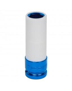 """Головка торцевая ударная глубокая 1/2"""", 17 мм, тонкостенная, пластиковая защита KING TONY 49451"""
