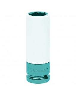 """Головка торцевая ударная глубокая 1/2"""", 19 мм, тонкостенная, пластиковая защита KING TONY 49451"""