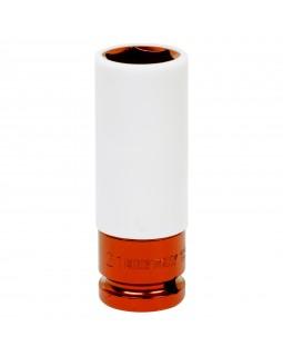 """Головка торцевая ударная глубокая 1/2"""", 21 мм, тонкостенная, пластиковая защита KING TONY 49452"""