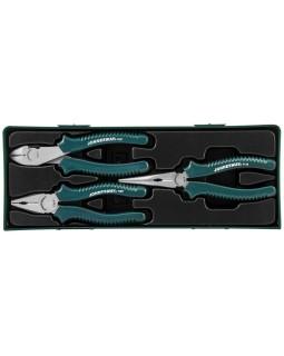Набор шарнирно-губцевого инструмента: пассатижи, бокорезы, утконосы, 3 предмета (ложементы)