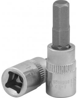 """Торцевая головка 1/4""""DR с шестигранной вставкой Hex 6 мм, L-37 мм"""