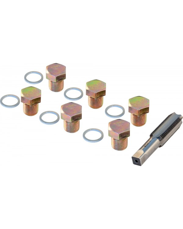 ODPRK1515 Набор для восстановления резьбы сливного отверстия поддона M15х1.5, 7 предметов