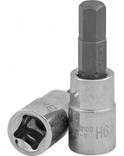 """Торцевая головка 1/2""""DR с шестигранной вставкой Hex 6 мм, L-55 мм"""